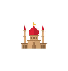 flat mosque element of flat vector image