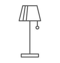Floor lamp thin line icon furniture and home vector