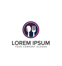 fork and spoon logo vector image