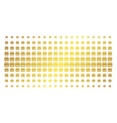 Free gift golden halftone effect vector