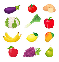 friuts and vegetables vector image