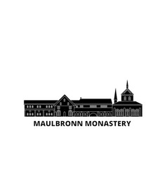Germany maulbronn monastery flat travel skyline vector