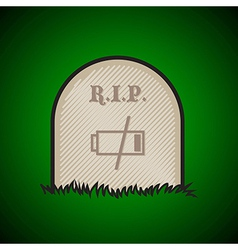 Gravestone dead battery vector image