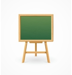 Green Black Board School vector image