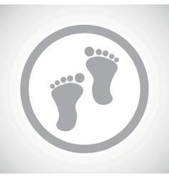 Grey footprint sign icon vector image