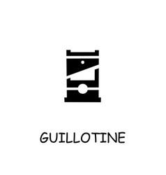 Guillotine flat icon vector