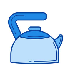 hot kettle line icon vector image