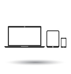 laptop tablet phone icon flat electronics sign vector image