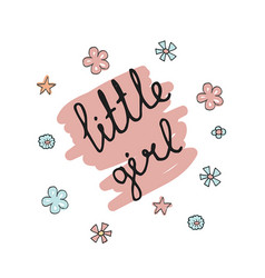 Little girl typography little girl typography vector