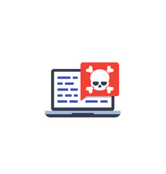 Malware security threat in code icon vector