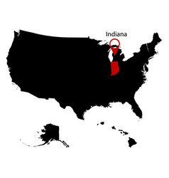map us state indian vector image