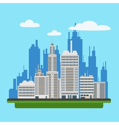 Megapolis Landscape with Modern Buildings vector