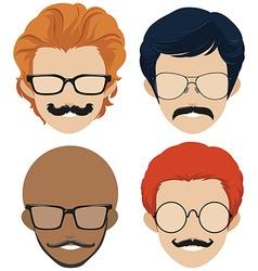 Men and mustache styles vector