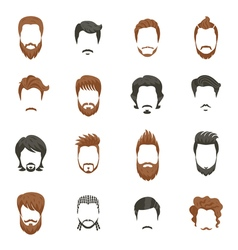 Men Hairstyle Icons Set vector image