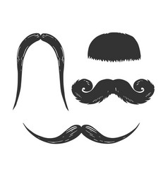 Moustache engraving vector