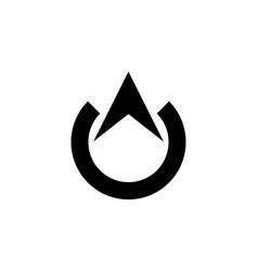 north arrow simple logo vector image