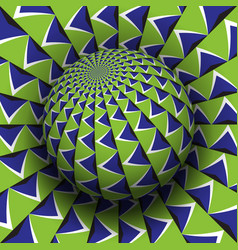 Optical illusion blue green vector