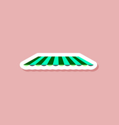Paper sticker on stylish background roof awning vector