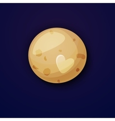 Pluto planet space objects in cartoon style vector