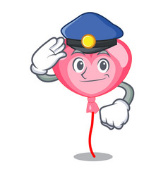 police ballon heart character cartoon vector image
