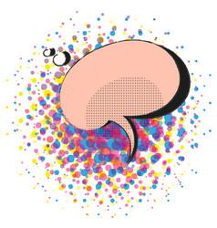 pop art comic retro speech bubble template vector image