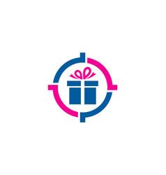 Present target logo icon design vector