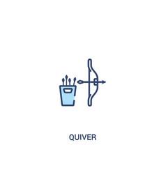 Quiver concept 2 colored icon simple line element vector