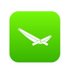 Recliner icon digital green vector