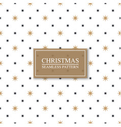 seamless geometric star pattern - xmas design vector image