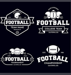 set of american football related badges logos vector image