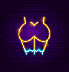 Sex girl neon sign vector