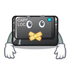 Silent capslock button isolated with cartoon vector
