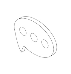 Speech bubble icon isometric 3d style vector image