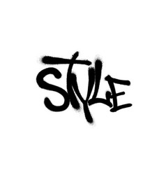 sprayed style font graffiti with overspray in vector image