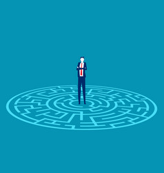 standing in center a maze business vector image