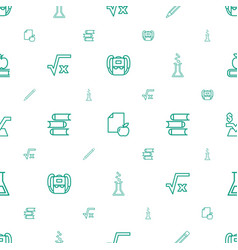 study icons pattern seamless white background vector image