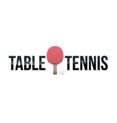 table tennis concept word art vector image