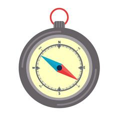 Travel compass flat vector