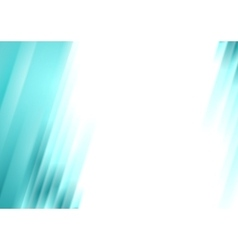 Turquoise blurred stripes bright corporate vector image