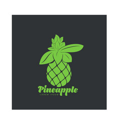 Two tone assymmetric graphic silhouette pineapple vector