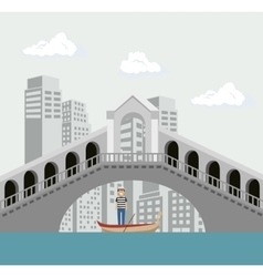 venice italy culture isolated vector image