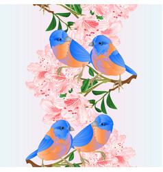 Vertical border seamless background small birds vector