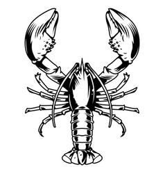 Vintage monochrome aquatic creature concept vector