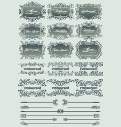vintage restaurant labels vector image