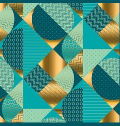 vintage round geometric seamless pattern vector image