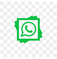 whatsapp social media icon design template vector image