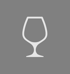 white empty wine glass icon isolated vector image