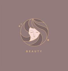 woman beauty fashion template logo vector image