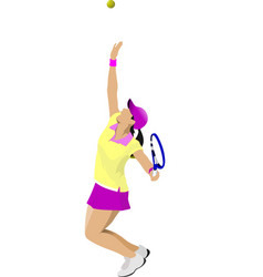 woman tennis colored for designers vector image vector image