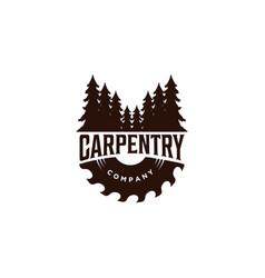 wood work carpentry logo vector image